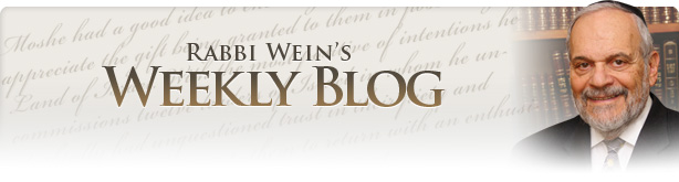 Rabbi Wein's Weekly Blog